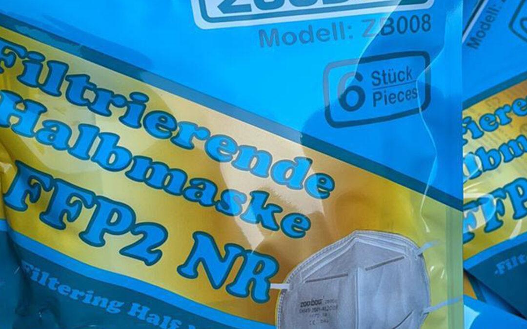Sonderverkauf: Zertifizierte FFP2-Masken