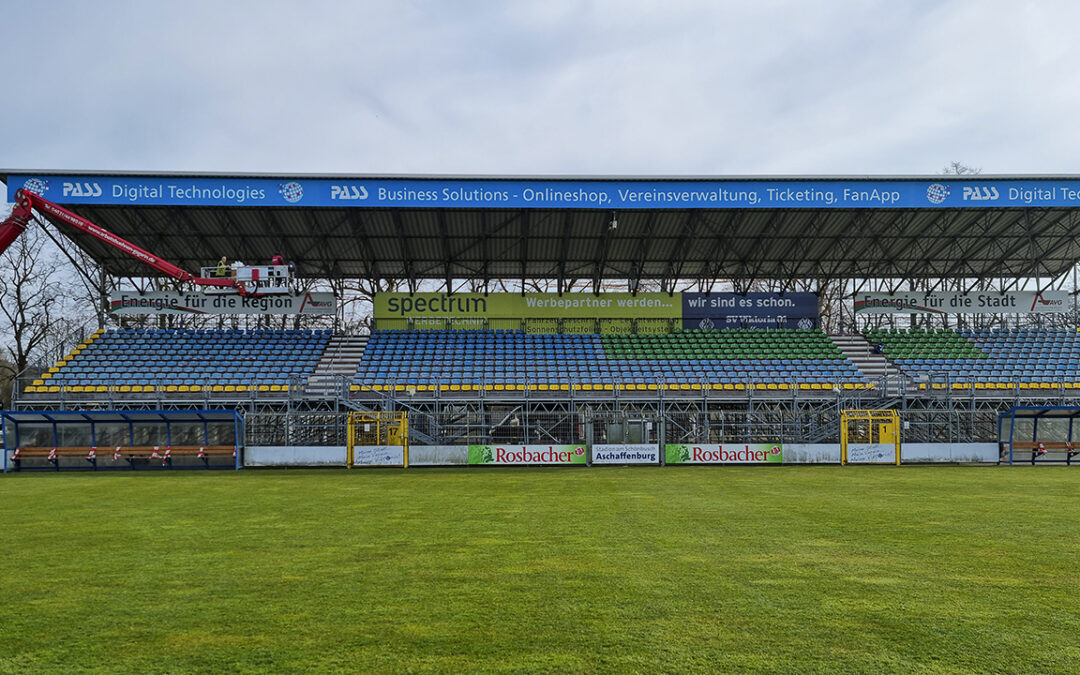 Weithin sichtbare Veränderungen im Stadion am Schönbusch