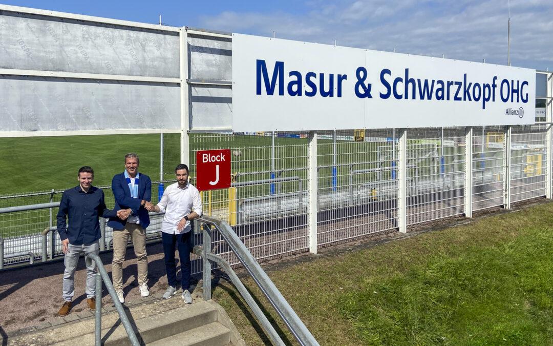 Viktoria präsentiert neuen Sponsor:Masur & Schwarzkopf